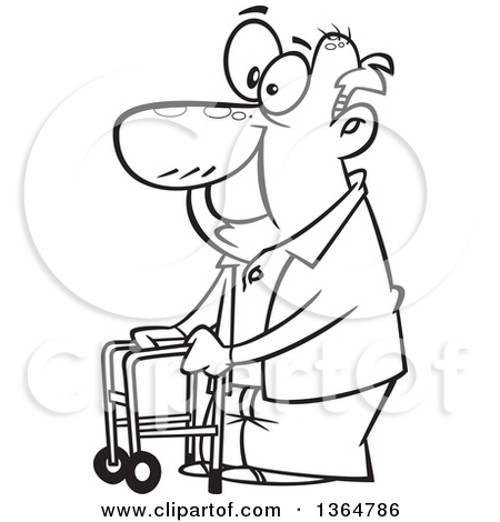 Cute old person black and white clipart clipart royalty free stock Old Man Cartoon Sketch at PaintingValley.com | Explore ... clipart royalty free stock