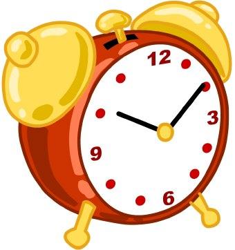 Clock border clipart