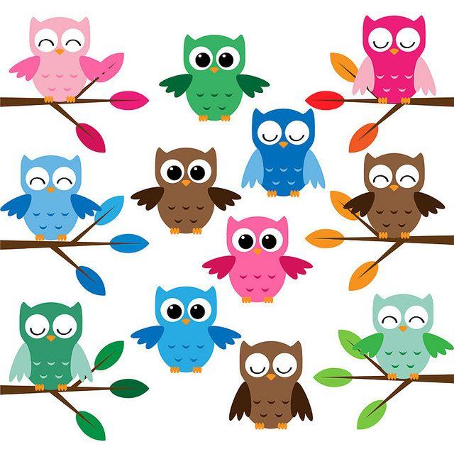 Cute owl cartoon clipart jpg transparent download Cute owls clip art set | GIVE A HOOT | Owl cartoon, Owl clip ... jpg transparent download