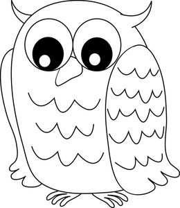 Cute owl eyes clipart black and white graphic free library Owl Clipart Image: Black and white owl with wide eyes ... graphic free library