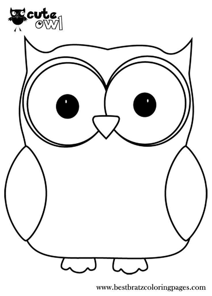 Cute owl eyes clipart black and white png freeuse stock Owl Coloring Pages Print Free Printable Cute Owl Coloring ... png freeuse stock