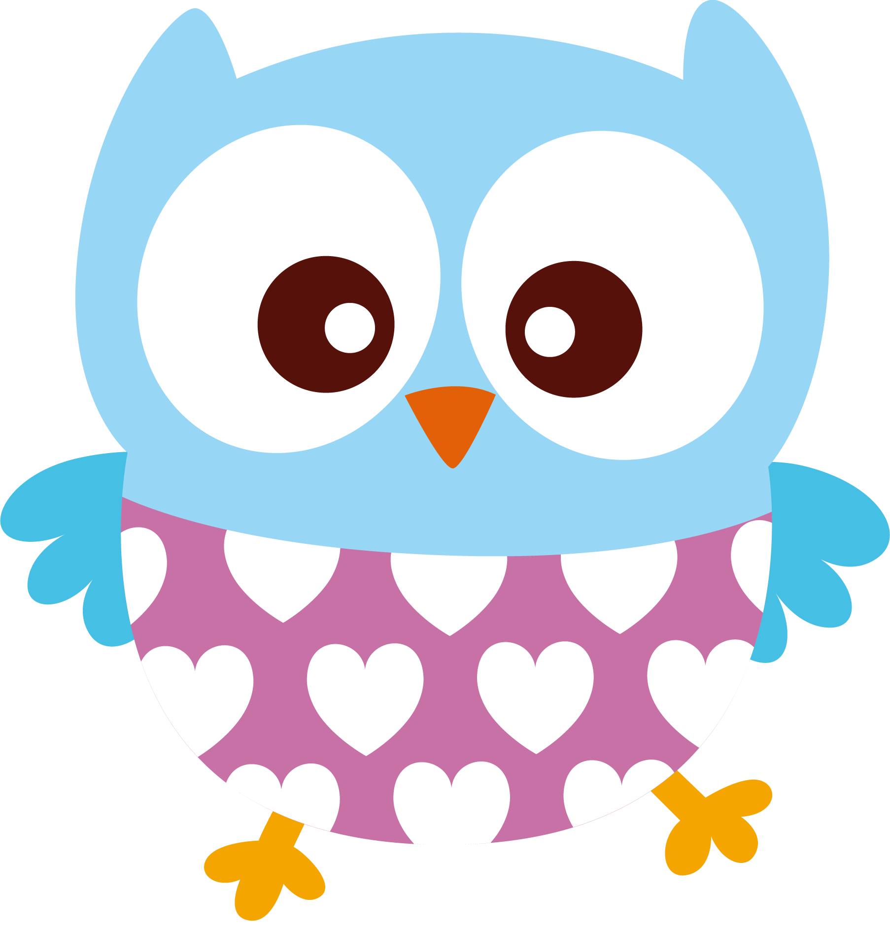 Cute owl holding a flower clipart svg free download Corujas - BB 0090_08.png - Minus   Clip Art-Animals/Birds/Fish, Etc ... svg free download