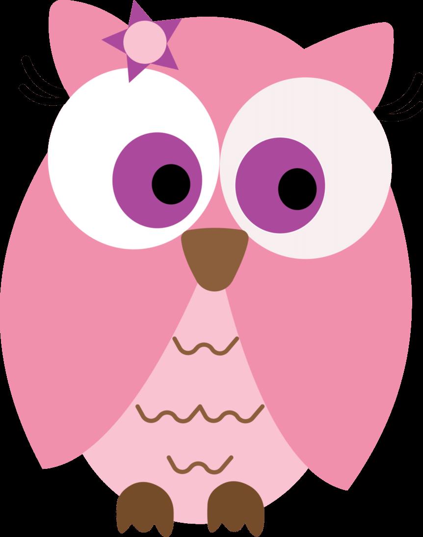 Woodland grey baby owl clipart
