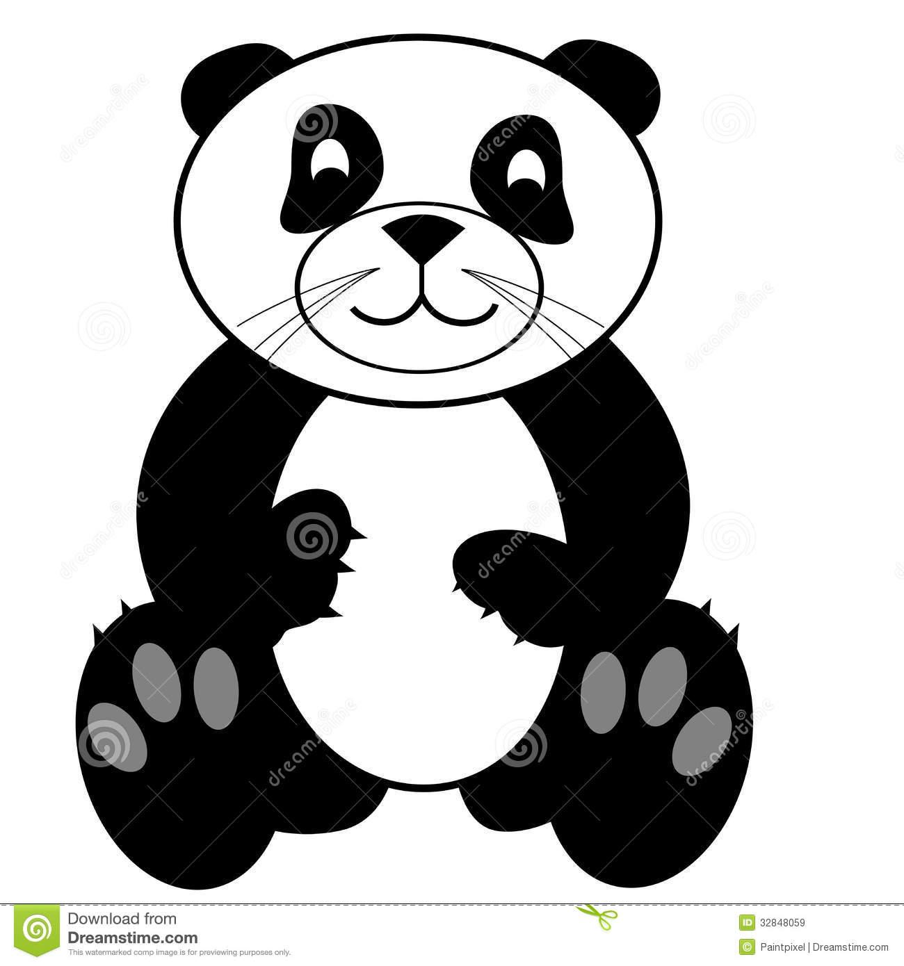 Cute panda bear clipart vector black and white library Cute Panda Bear Clip Art | Clipart Panda - Free Clipart Images vector black and white library