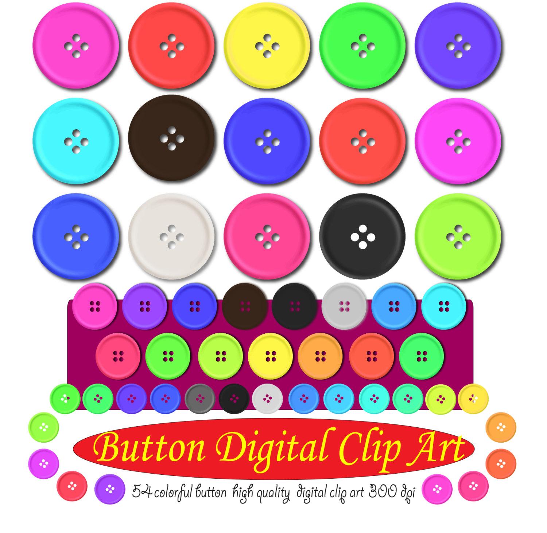 Cute pastel button clipart clip art transparent stock Digital button clipart Button art wedding Button sticker Cute clip art transparent stock