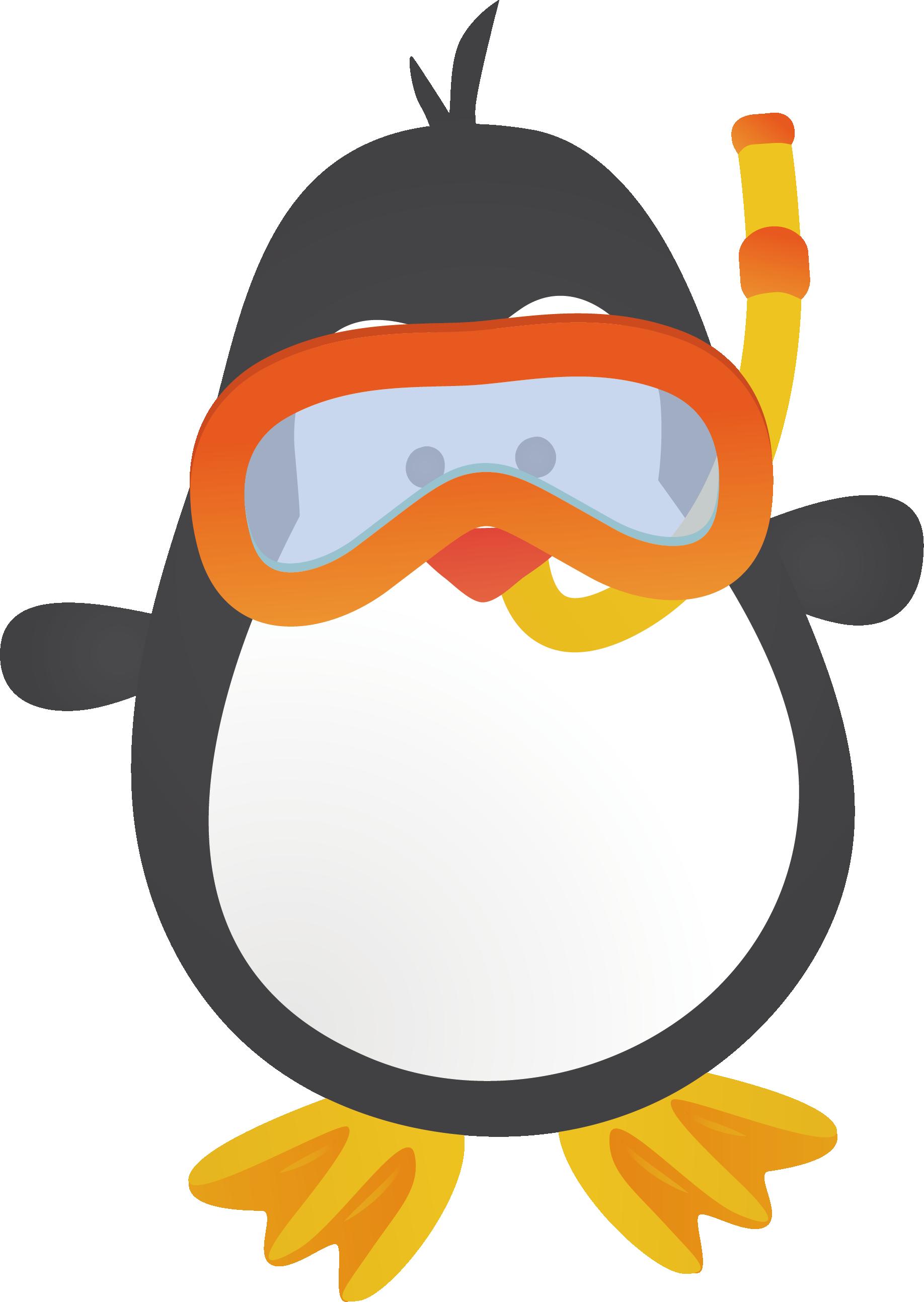 Cute penguin christmas clipart svg stock Penguin Cartoon Animation Clip art - Diving penguins 1836*2587 ... svg stock