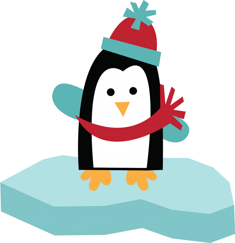 Penguin holiday clipart svg freeuse Free SVG of the Day Penguin On Ice free penguin clipart free clip ... svg freeuse