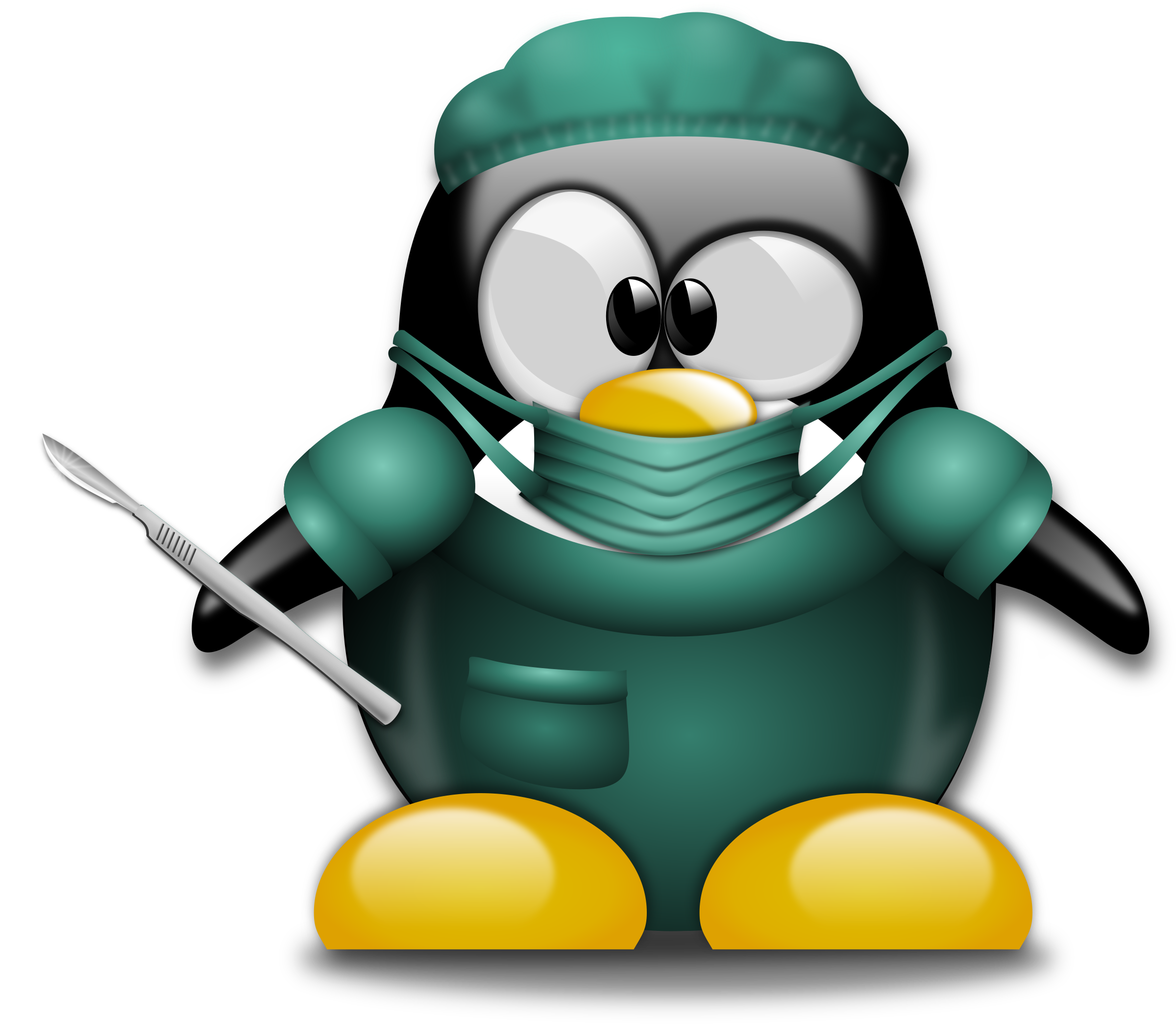 Cute penguin doctor clipart vector stock Funny Doctor Clipart | Free download best Funny Doctor Clipart on ... vector stock
