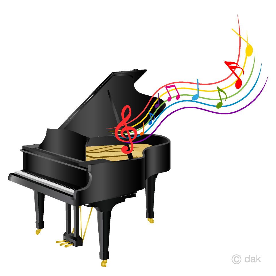 Piano and Music Sheet Clipart Free Picture|Illustoon download