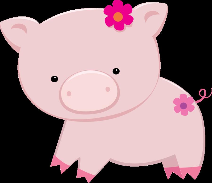 Cute piggy bank clipart clip art transparent download Precioso Clipart de Niñas en la Granja. | Para Imprimir Gratis ... clip art transparent download
