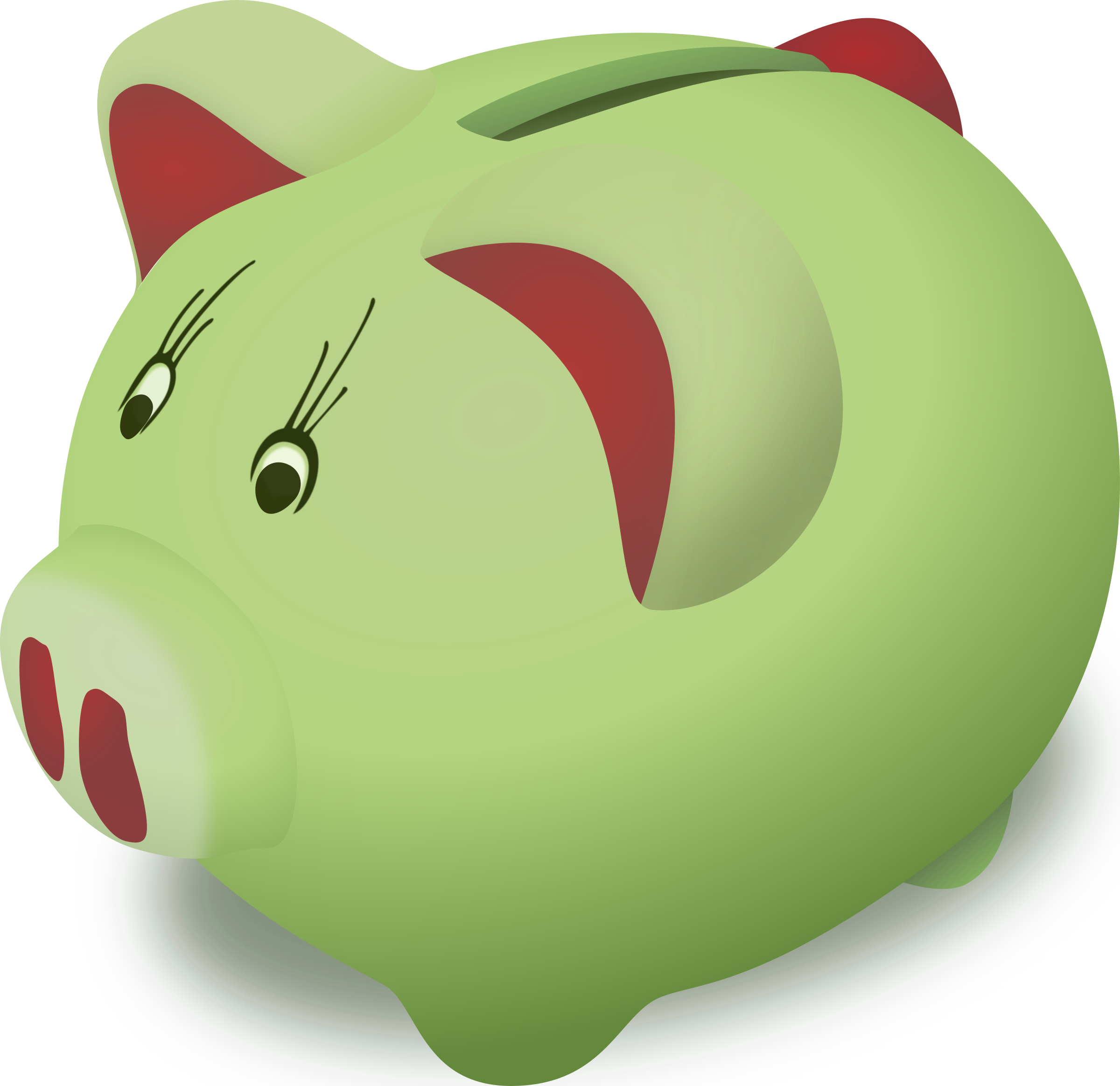 Green piggy bank clipart graphic freeuse library Clipart - Piggybank graphic freeuse library