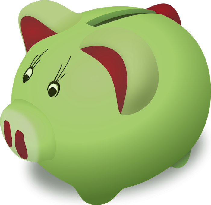 Cartoon piggy bank clipart clip free library Free Pig Clipart - Animated Graphics & Vectors! clip free library