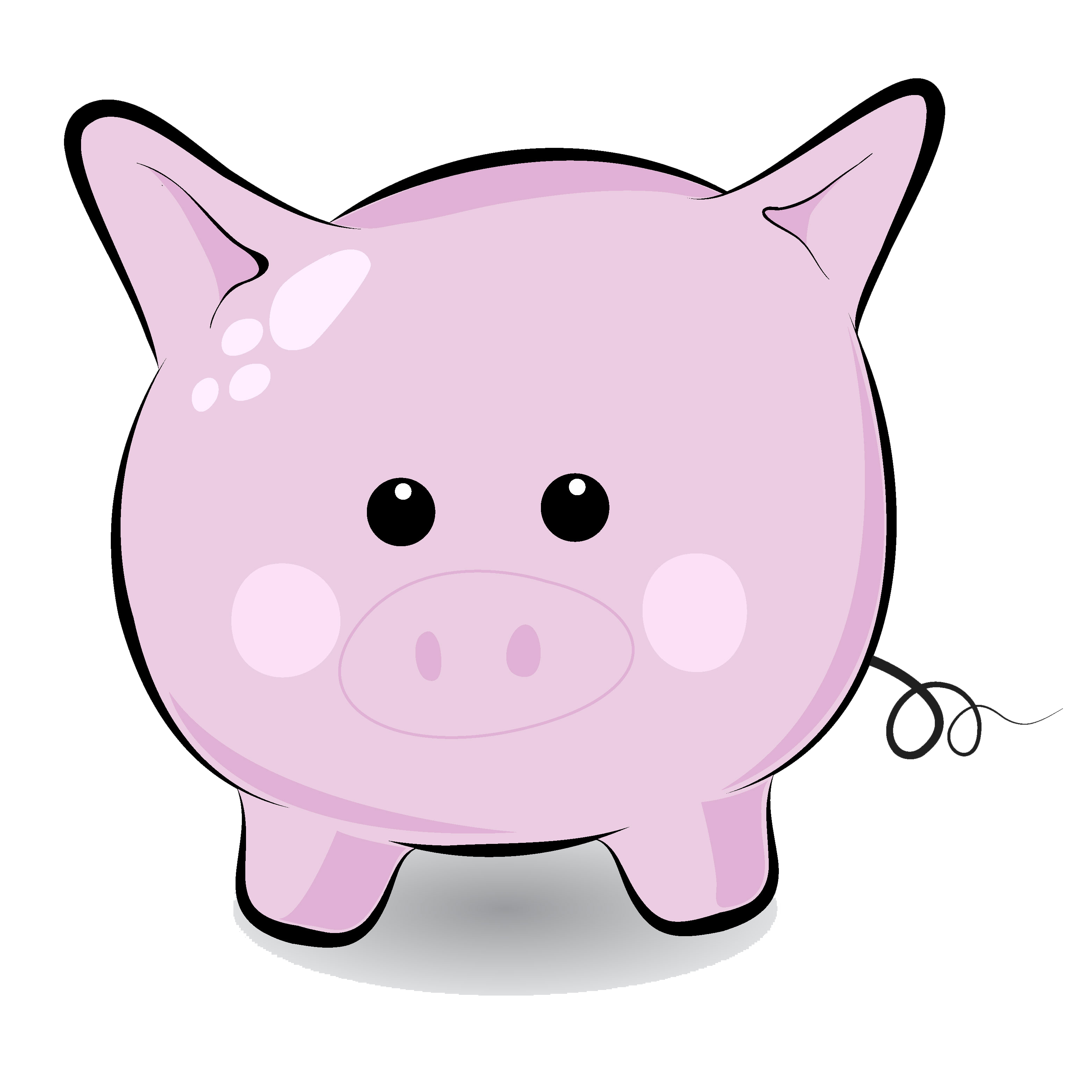 Cute piggy clipart free picture black and white Cute Pig Face Clip Art | Clipart Panda - Free Clipart Images picture black and white
