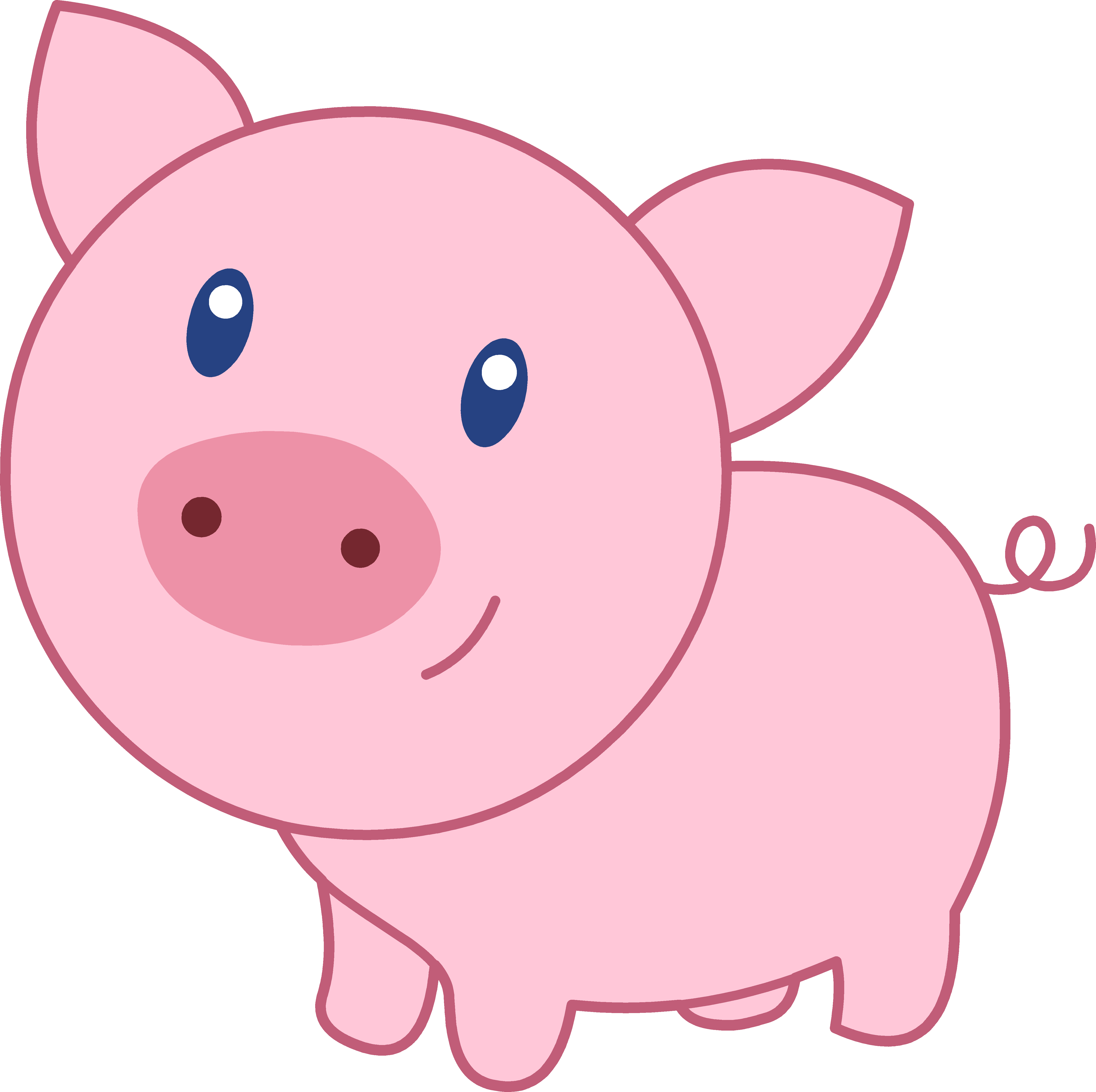 Cute piggy clipart free clip transparent download Gallery for cute pig clip art free - dbclipart.com clip transparent download