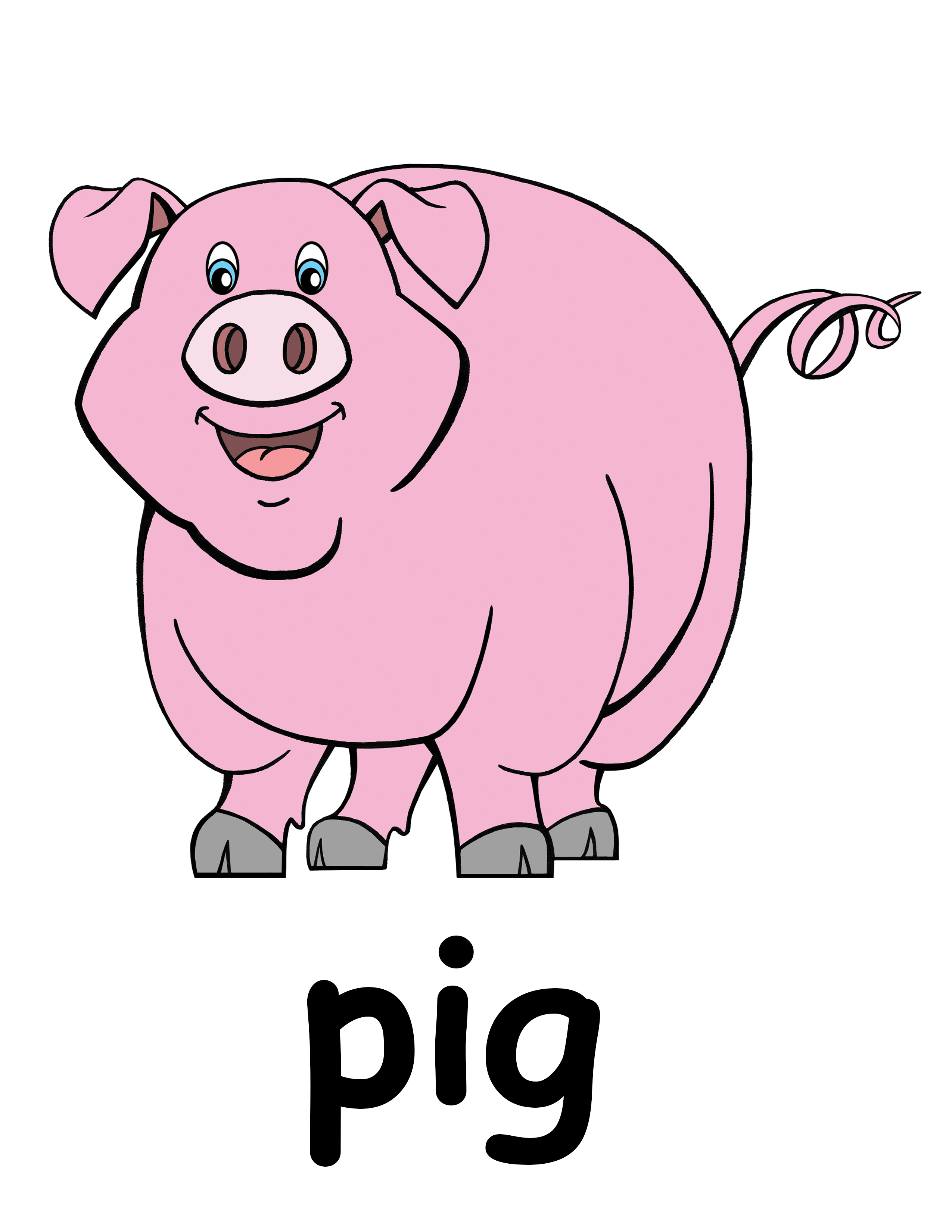 Cute piggy clipart free png freeuse Free Clip art of Cute Pig Clipart #1005 Best Cute Pig Free #1005 ... png freeuse