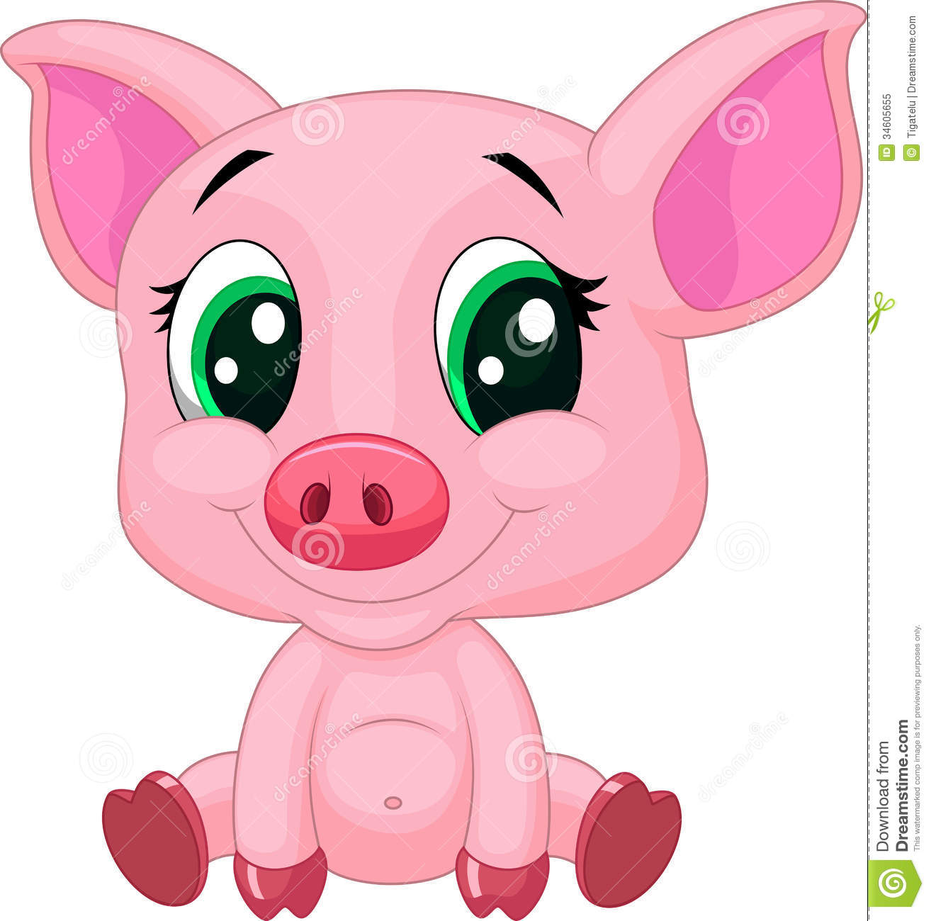 Cute piggy clipart free svg library stock CLIPART CUTE PIG | Royalty free vector design | Woodland ... svg library stock