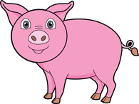 Cute piggy clipart free freeuse library Free Pig Clipart - Clip Art Pictures - Graphics - Illustrations freeuse library