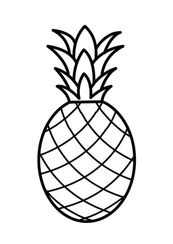 Cute pineapple camera clipart black and white vector stock Pineapple, : A Pale Pernambuco Pineapple Coloring Page | Mr ... vector stock