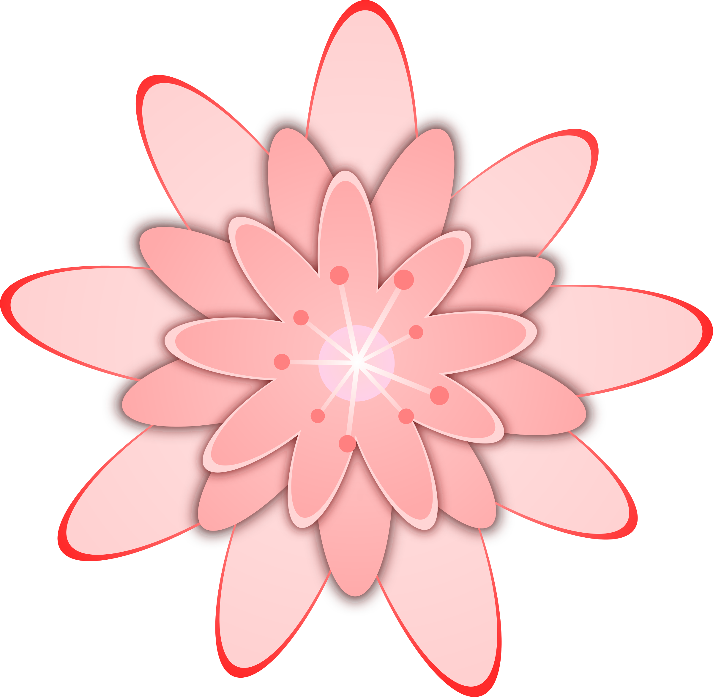 Cute pink flower clipart. Big image png