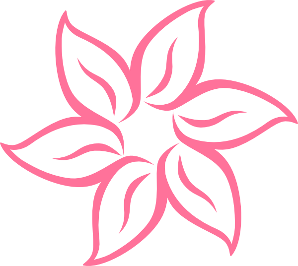Simple clip art at. Cute pink flower clipart
