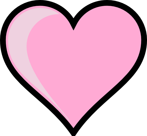 Cute pink heart clipart. Clip art at clker