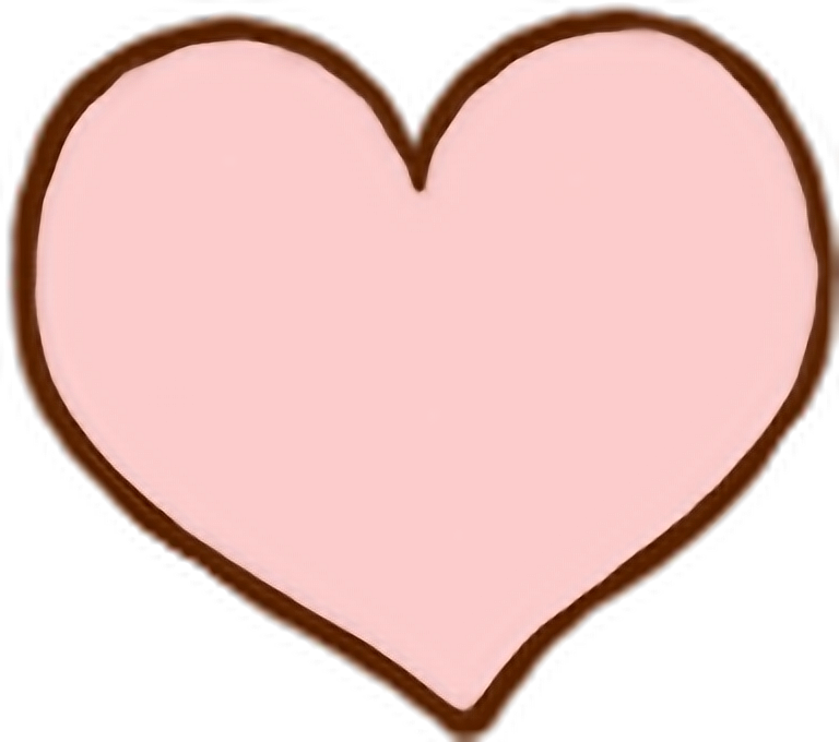 Cute pink heart clipart. Korean korea kpop png