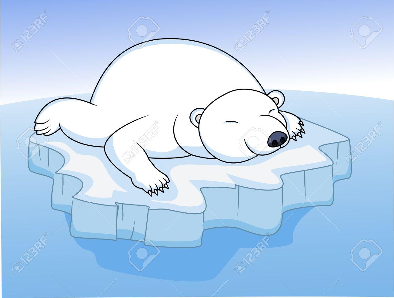 Cute polar bear on ice clipart graphic royalty free library Cute Polar Bear On Ice Clipart graphic royalty free library