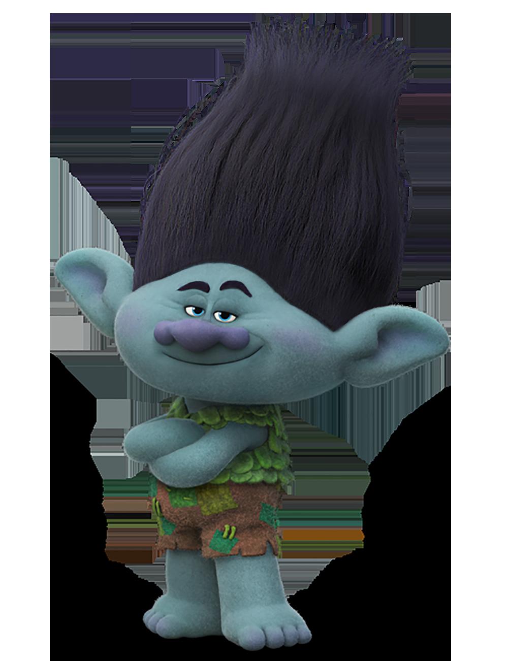 Trolls branch transparent png. Cute poppy troll holding pumpkin clipart