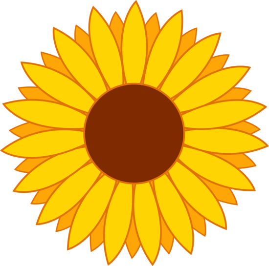 Sunflower cake clipart picture library download My free clip art of a cute yellow sunflower | Assorted free clip art ... picture library download