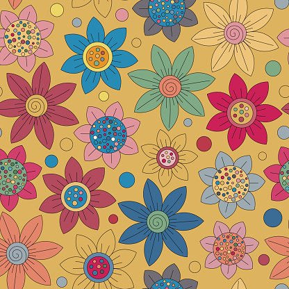 Cute primtive flower cliparts graphic free stock Floral Seamless Cute Pattern Simple Primitive Flowers Bright premium ... graphic free stock