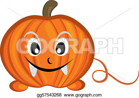 Cute pumpkin character clipart picture transparent library Vector Art - Cute pumpkin cartoon character . Clipart Drawing ... picture transparent library