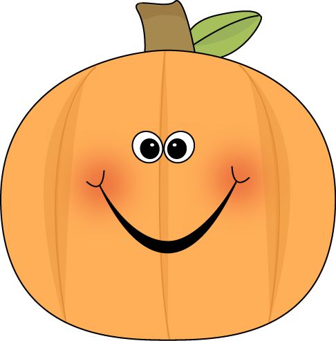 Clip art image. Cute pumpkin character clipart