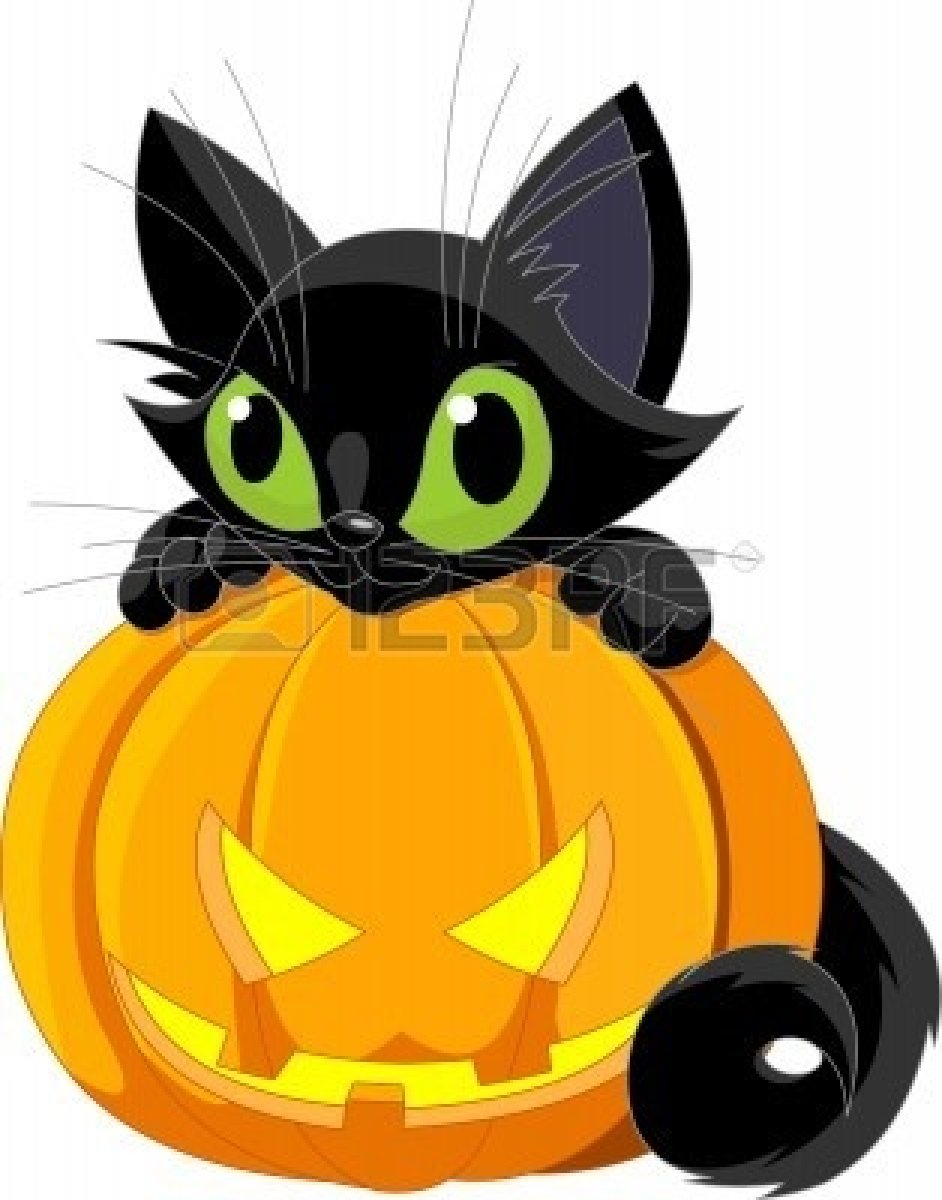 Cute pumpkin character clipart jpg transparent library Halloween character cat clipart - ClipartFest jpg transparent library
