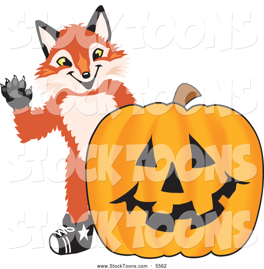 Cute pumpkin character clipart banner transparent library Stock Cartoon of a Cute Fox Mascot Cartoon Character with a ... banner transparent library