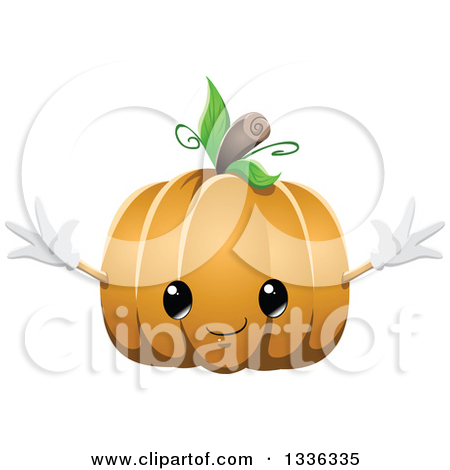Cute pumpkin character clipart picture library stock Clipart of a Cute Halloween Pumpkin Character - Royalty Free ... picture library stock