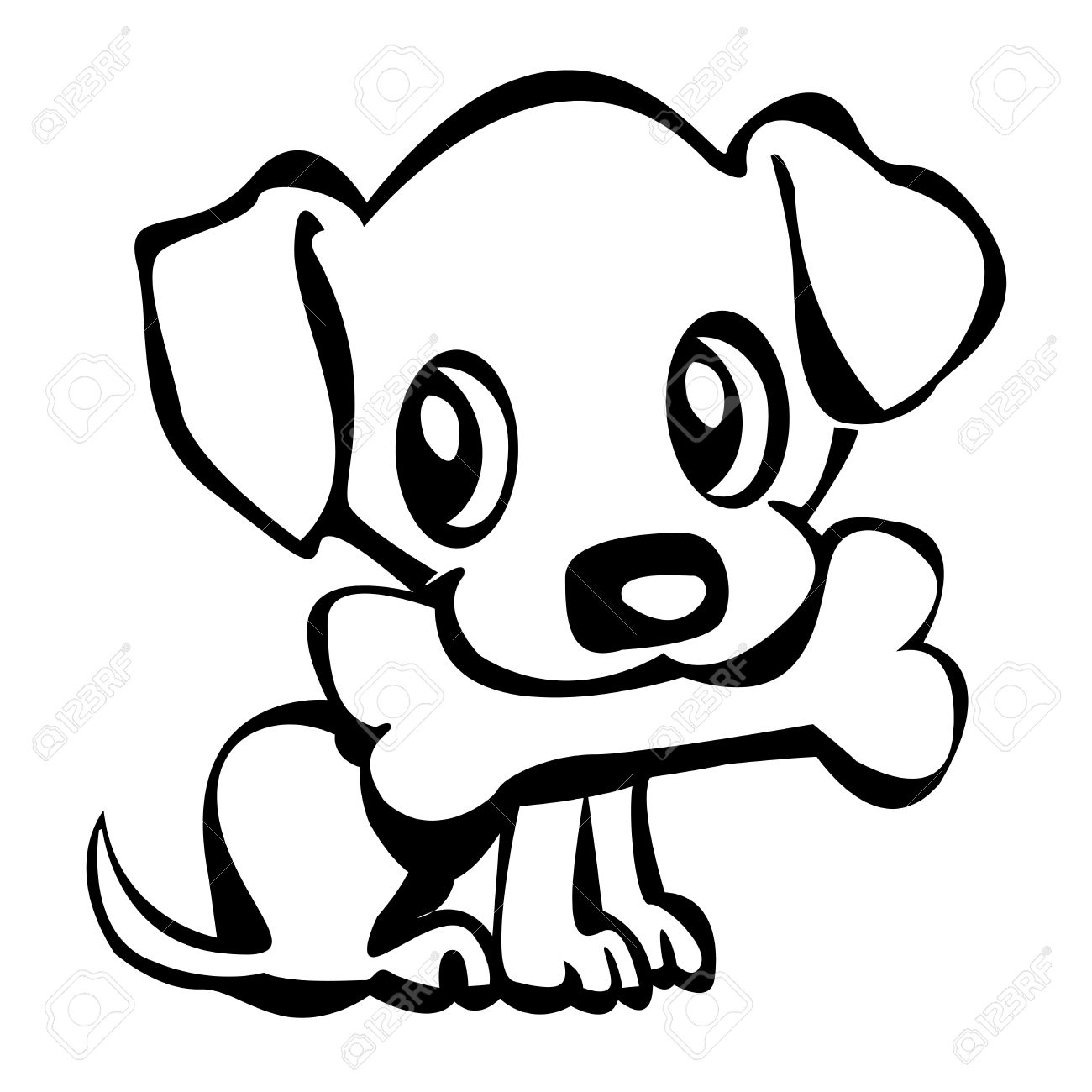 Cute puppy dog clipart black and white clip art library stock Puppy Clipart | Free download best Puppy Clipart on ClipArtMag.com clip art library stock