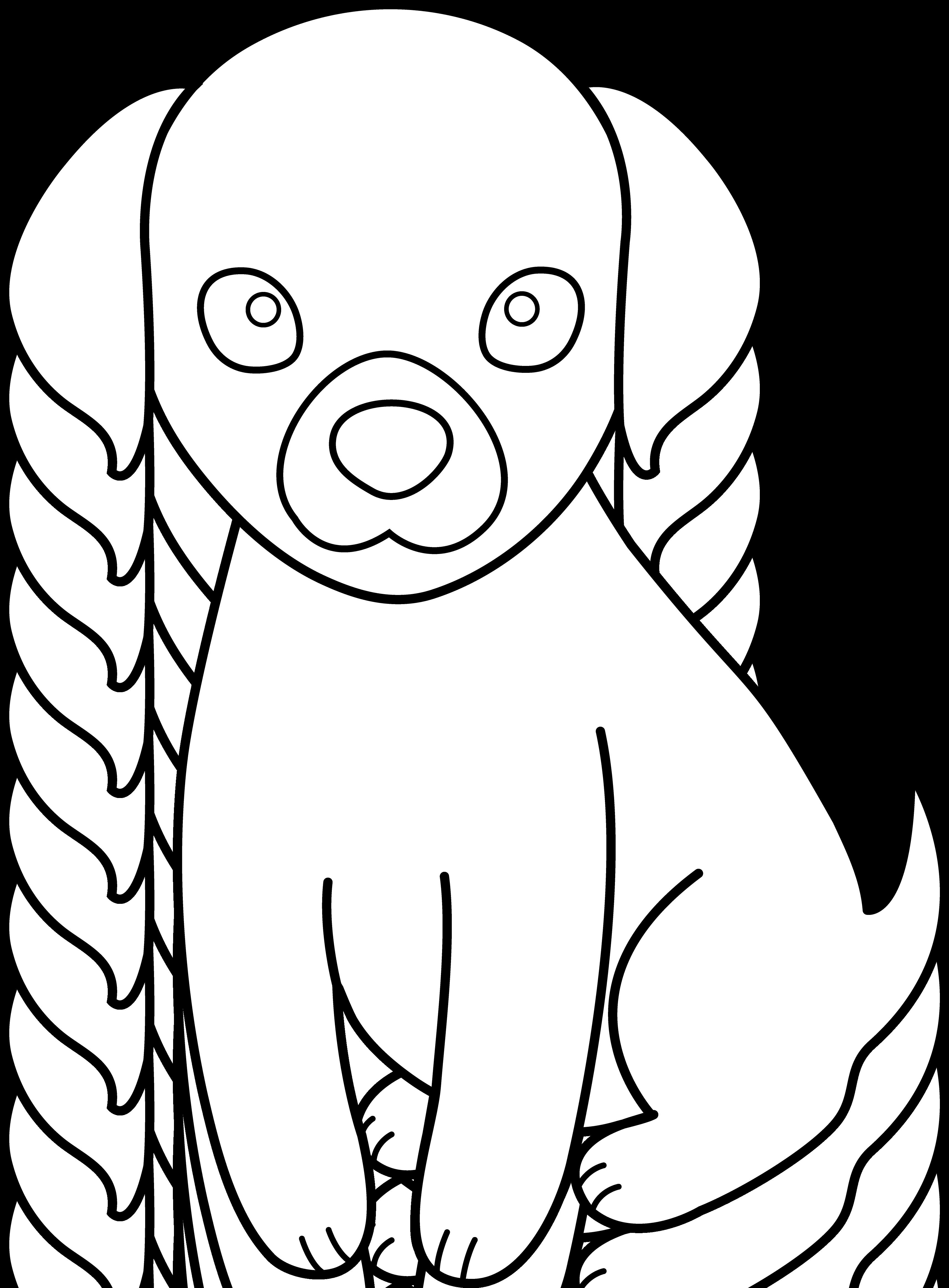 Cute puppy dog clipart black and white jpg freeuse HD Black And White Puppy Dog House Clipart Uploaded By - Cartoon ... jpg freeuse