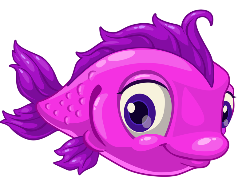 Cute purple fish clipart. Shutterstock png pinterest ocean