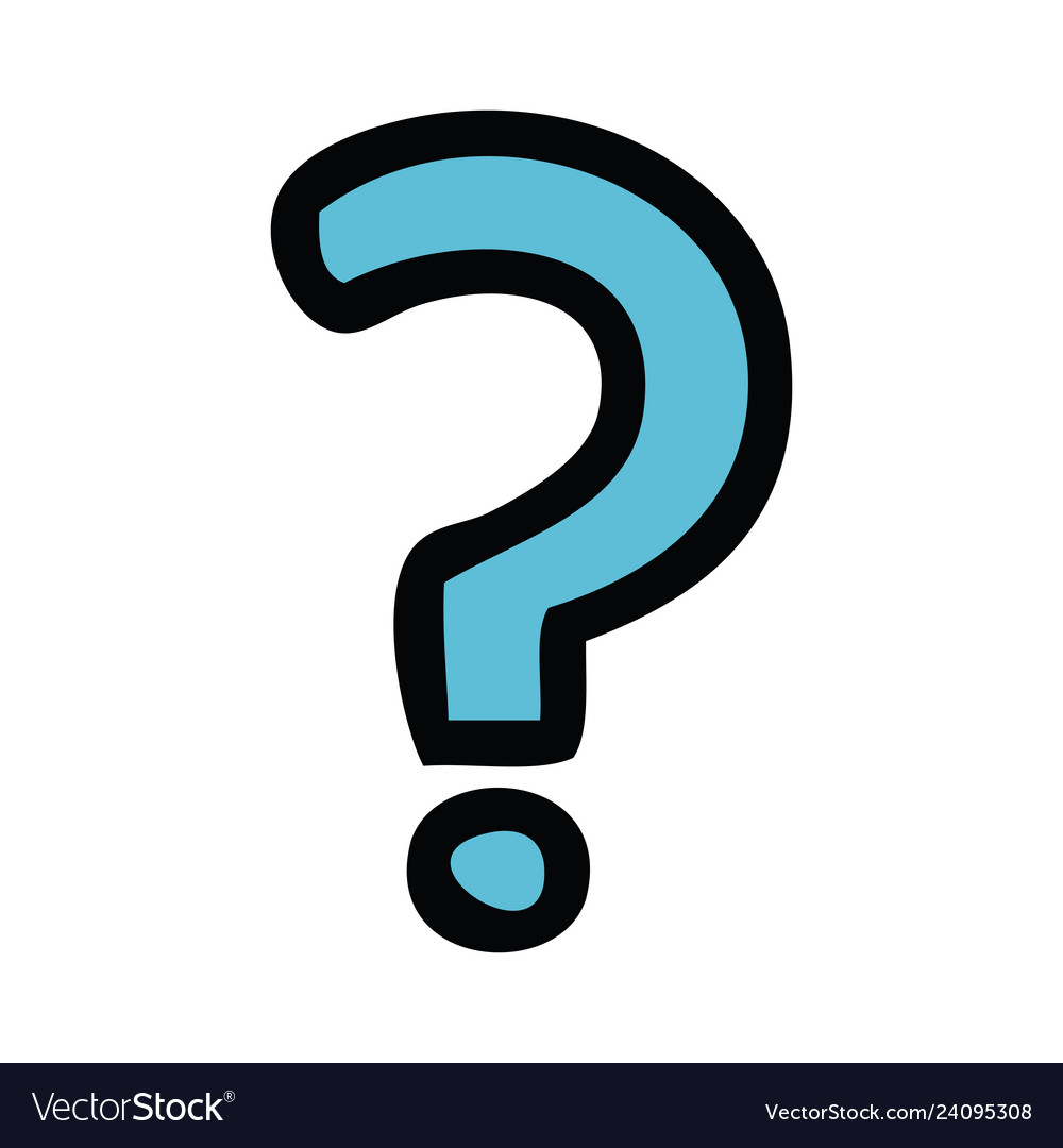 Cute question mark clipart vector freeuse download Cute cartoon question mark vector freeuse download