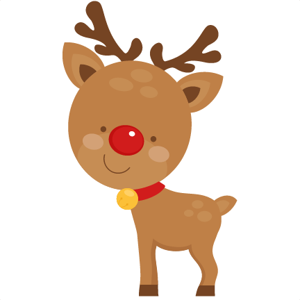 Cute Reindeer SVG scrapbook cut file cute clipart files for ... black and white stock