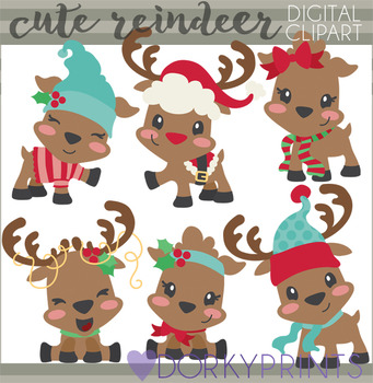 Cute Reindeer Clipart png freeuse download