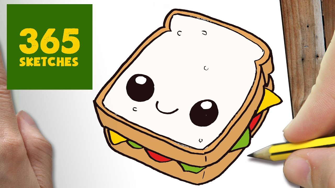 Cute sandwich clipart freeuse library HOW TO DRAW A SANDWICH CUTE, Easy step by step drawing lessons for kids freeuse library
