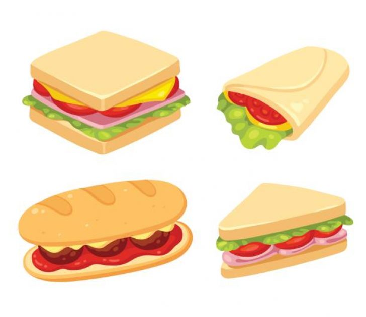 Cute sandwich clipart clip art black and white stock sandwich clipart cute | www.thelockinmovie.com clip art black and white stock