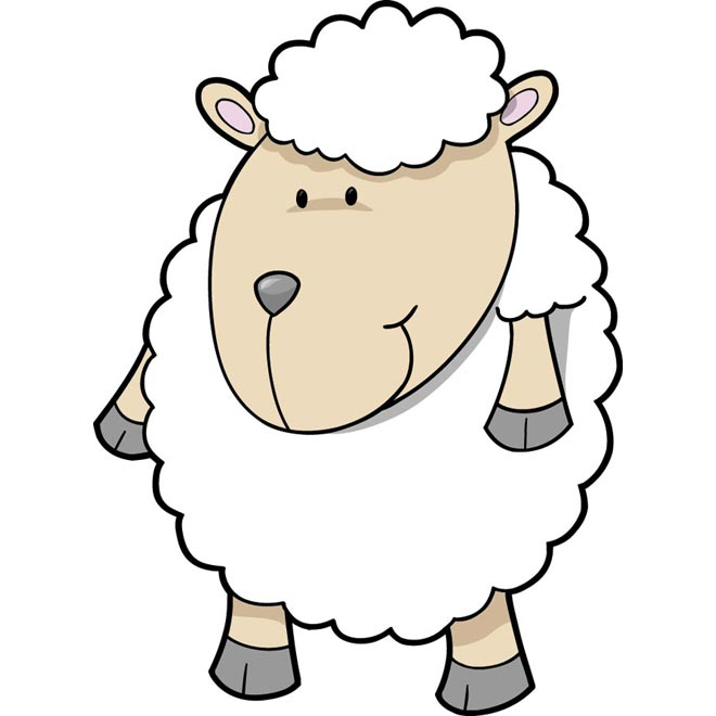 Cute sheep baby lambs flock free clipart vector graphic black and white stock Free Cute Sheep Pictures, Download Free Clip Art, Free Clip ... graphic black and white stock