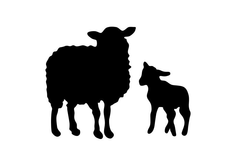 Cute sheep baby lambs flock free clipart vector graphic library download Sheep And Lamb Vector Silhouettes | vector silhouettes ... graphic library download