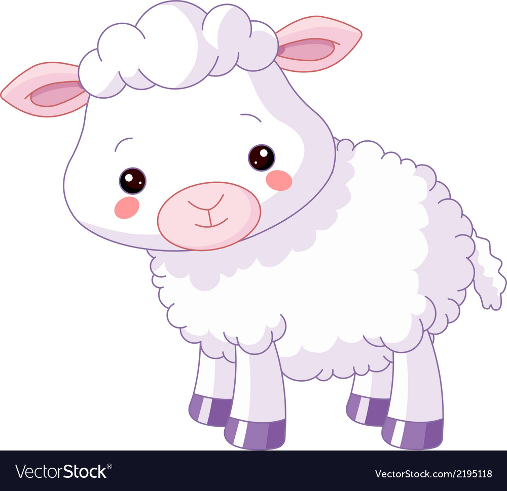 Cute sheep baby lambs flock free clipart vector image black and white library Farm animals Lamb image black and white library