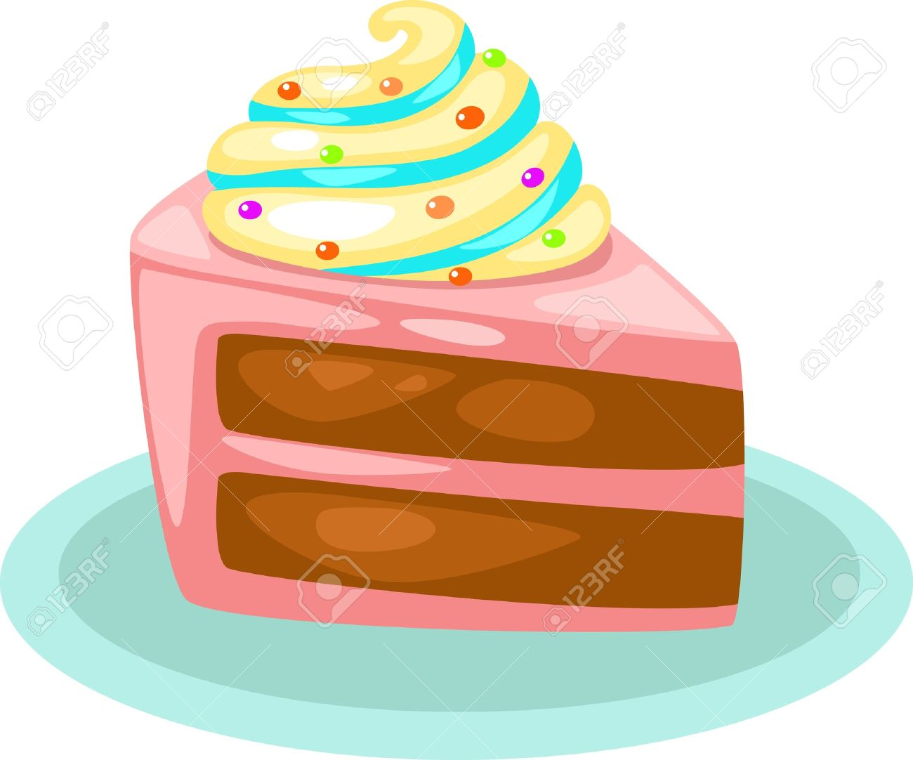 Cute slice of cake clipart royalty free stock Cute slice of cake clipart - ClipartFest royalty free stock