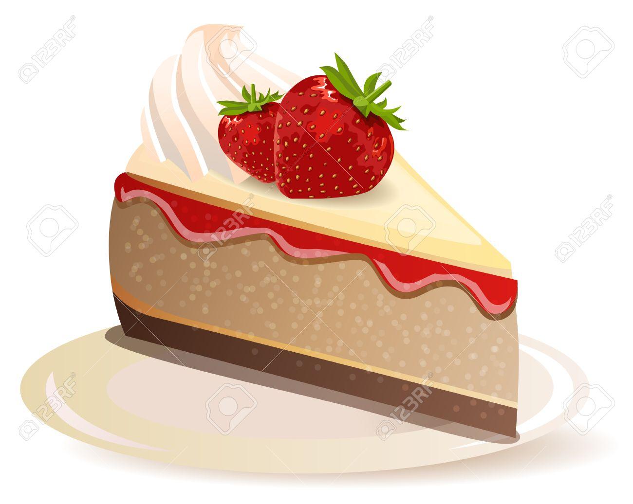 Cute slice of cake clipart graphic transparent stock Cute strawberry cake clipart - ClipartFox graphic transparent stock