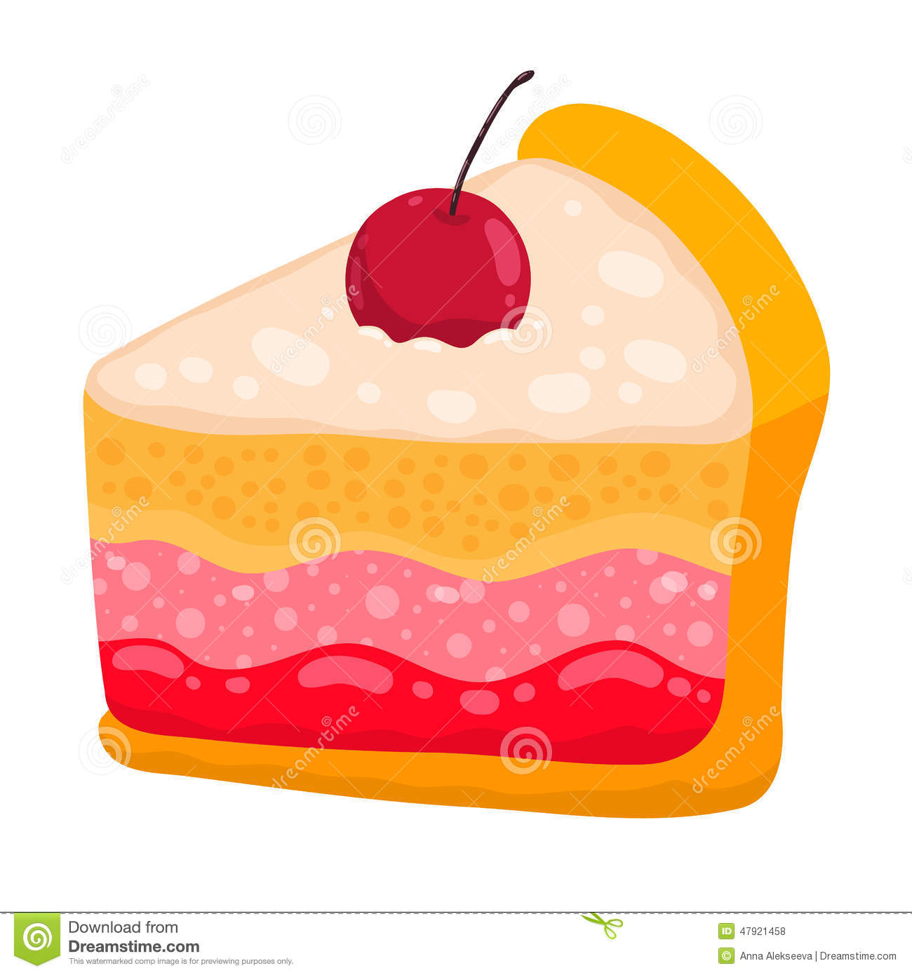 Cute slice of cake clipart clip art library library Cute Cartoon Vector Cake Piece Stock Vector - Image: 47921596 clip art library library