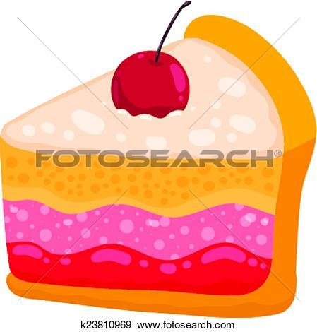 Cute slice of cake clipart clipart Clip Art of cute cartoon vector cake piece k23810969 - Search ... clipart